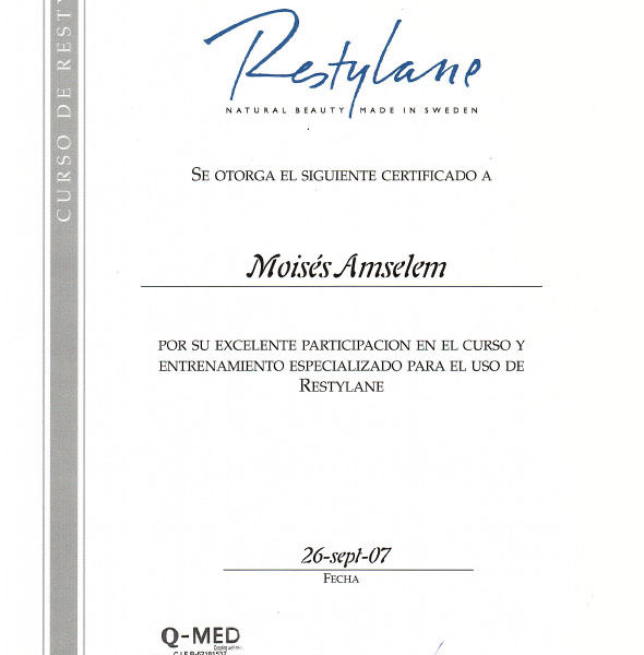 Curso Restylane Sept. 2007
